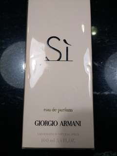 Giorgio Armani Si 100ml worth $120