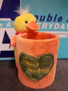 Duck pencil holder