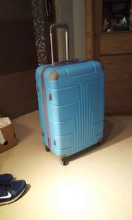 29 inch light blue luggage 4 wheels