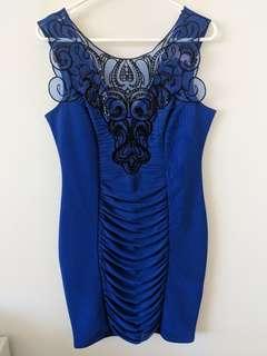 Lipsy Blue Party Dress Size 12