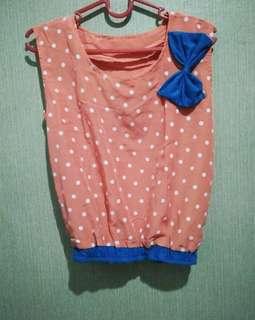 Crop polka blouse