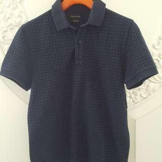 Massimo dutti polo navy shirt