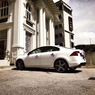 Luxurious Volvo S60 Wedding Car