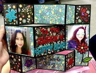 Customized 3D Standing Birthday Card