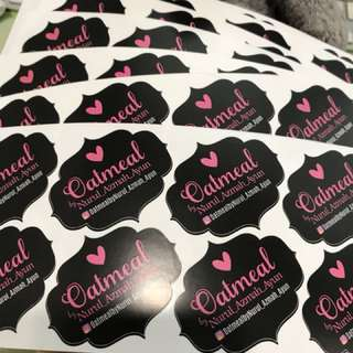 Customised business stickers labels