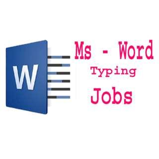 Typing Job
