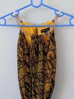 Thalia Sodi Black/Yellow Dress Size M