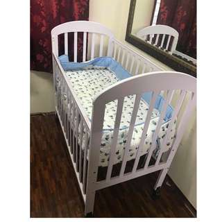 Baby Cot with baby mattress
