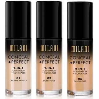Authentic Milani Conceal + Perfect 2 in 1 Foundation + Concealer 🤩 30ml