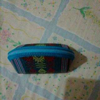 coin purse 3in1 keychain vietnamese weaving cloth