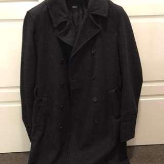 Men's wool trench coat