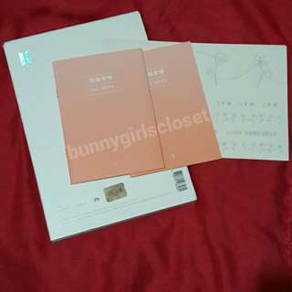 BTS HER (L and O) album sticker and The Note
