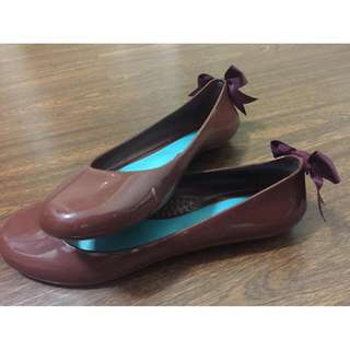 Oka womens jelly flats ballet shoes with ribbon size 6