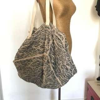 Vintage Special Material Oversized Shoulder Bag 古董復古特別物料 超大 單肩包 韓國