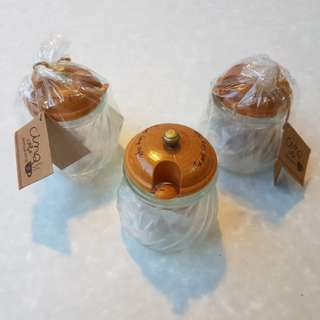 Set of 3 Honey Jars of Paper Clips