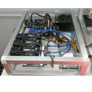 3 GPUs Mining Machine For New Bitcoin Miner