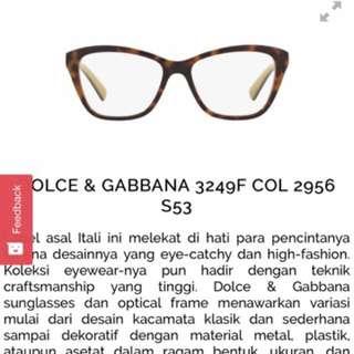 Kacamata Dolce&Gabbana