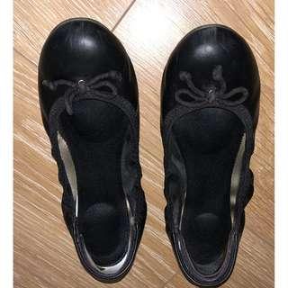 Dexflex Comfort Caroline Memory Foam Elastic Faux Leather Black Ballet Flats [7]