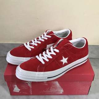 Converse one star red Suede leather US9