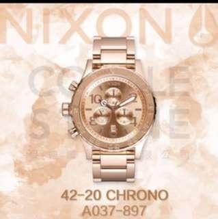 🚚 (徵收)nixon 42-20 玫瑰金錶