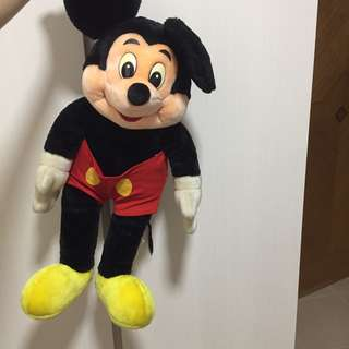 Old School Mickey Mouse Plush Toy