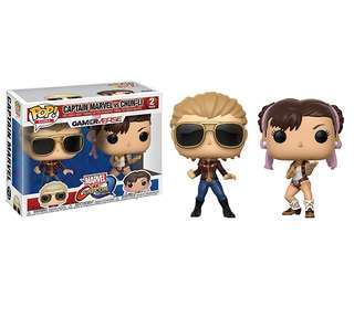 Funko POP Marvel vs Capcom - Captain Marvel vs Chun Lee