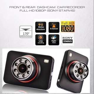Car camera (Front & back) SONY STARVIS LENS Car recorder Dash camera - Car Camcorder - Car DVR  •Loop Recording/Wide-Angle/Ultra Clear Night-Vision
