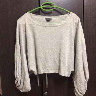 Topshop Nude Knitted Jumper