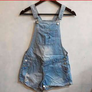 Cotton on denim dungarees