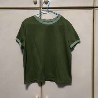 Forest Green Boxy Crop Top