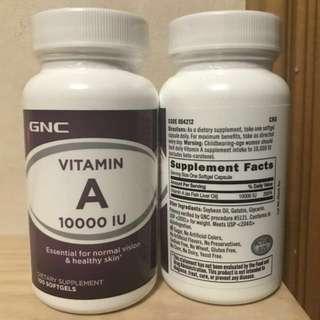 GNC Vitamin A 10000 IU  (100粒)