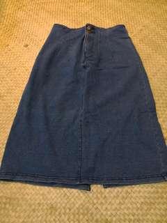 Forever 21 medium denim pencil skirt