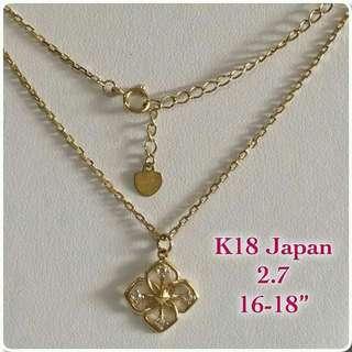 Japan Gold Necklaces 18K 😍