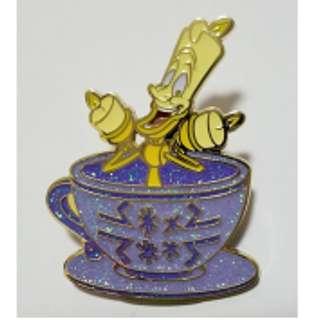 迪士尼 咖啡杯 徽章 Disney Tea Cup Pin 咖啡杯 :  Lumiere 盧米亞