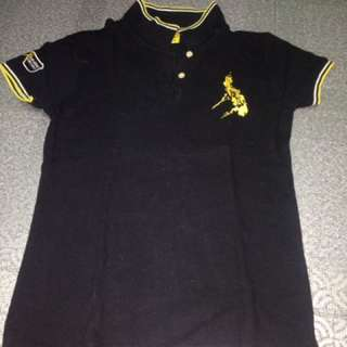 Bench black polo shirt