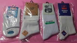 10對包郵㊣成人白短襪(男女合穿) $50/5對(原價$25/對) 5對起售