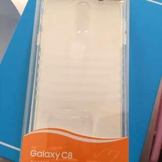全新 韓國製 原廠Samsung C8 包邊保護軟套