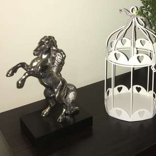 Christofle silver plated rearing horse sculpture