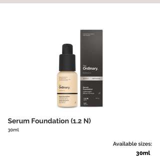 the ordinary serum foundation in 1.2N