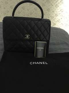 Preloved Chanel Kelly in Caviar SHW