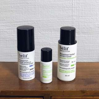 Belif Samples Set - Toner, Essence etc