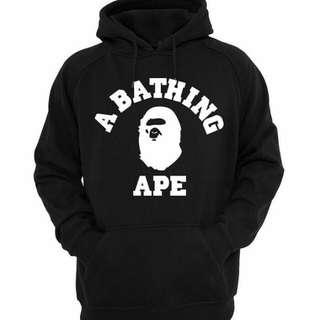Jaket hoodie a bathing ape logos