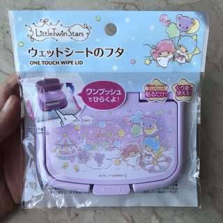 Rare Japan Sanrio Little Twin Stars One Touch Wet Wipe Lid Cover