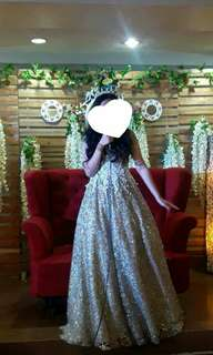 Elegant Gold Gown for Rent