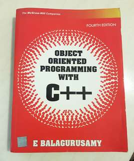 Object Oriented Programming with C++ Fourth Edition E Balagurusamy