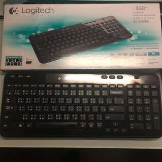 Logitech K360r Wireless Keyboard 無線