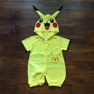 Baby Character Bodysuits - Pikachu