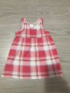 H&m pink and lilac checkered dress