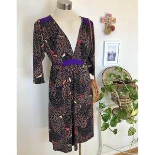 Leona Edmiston Ruby dress with tie belt sz 12