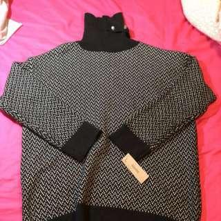 造型領長版毛衣